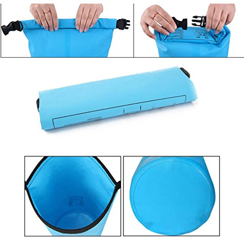 20L Waterproof Dry Bag , Roll Top Closure Dry Bag Sack with Dual Shoulder Straps for Kayaking Boating Camping