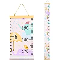 Basumee Height Chart for Kids Elephant Wall Ruler Growth Chart Wood and Canvas Wall Decals 7.9x79 in