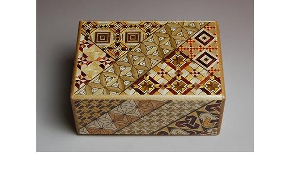 Caja secreta japonesa koyosegi, 4 SUN, 12 pasos para abrirla, puzzle: Amazon.es: Juguetes y juegos