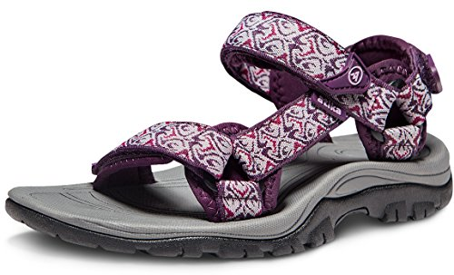 - ATIKA Women's Maya Trail Outdoor Water Shoes Sport Sandals, Maya(w111) - Magenta, 10
