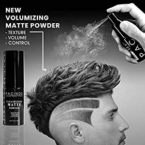 Pacinos Matte Texturizing Hair Powder - Volumizing Powder Adds Texture, Volume, Control & Absorbs Excess Oil for a Natural Finish - Styling Texture Powder for All Hair Types, 0.16oz (4.5g)