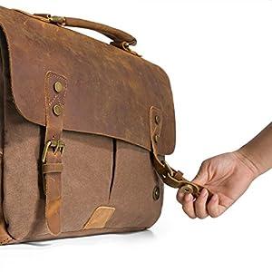 Ecosusi-Borsa tracolla uomo in pelle  Borsa pelle vintage Vintage   Retro  Borse a spalla avviso 06bcb024451
