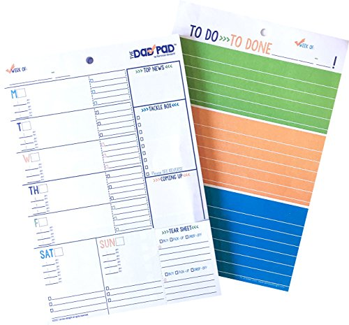 Big Sale! Plan-for-Your-Man Weekly Daily Planner Pad, 60 Full-Color 6