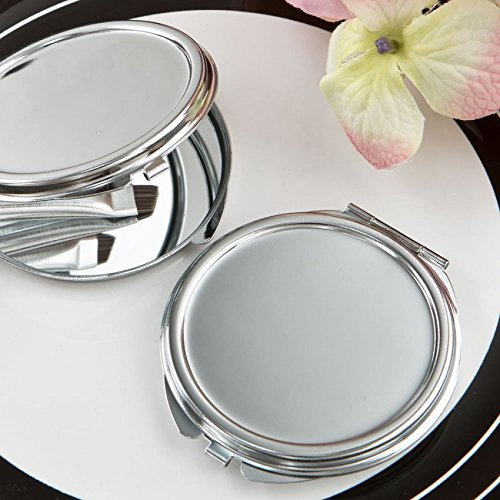 50 Perfectly Plain Collection Silver Metal Mirror by Fashioncraft