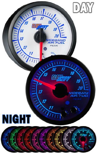 GlowShift White Elite 10 Color Wideband Air/Fuel Ratio AFR