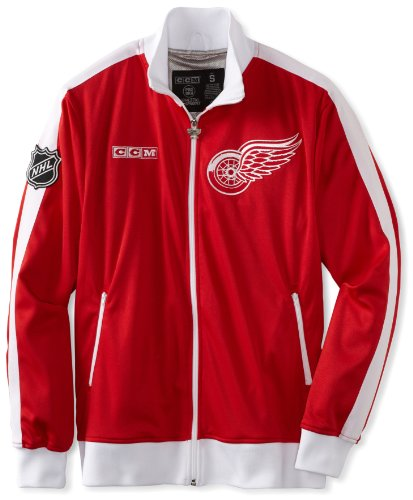 NHL Detroit Red Wings Lord Stanley Track Jacket, Small , Red/White