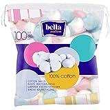 Bella India Cotton Cosmetic Balls - 100 Pieces