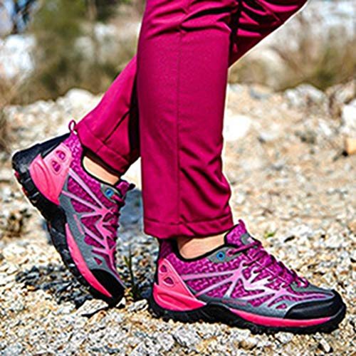 Climbing Running Outdoor Non Shoes Trail Purple Shoes Casual Hiker Women's Waterproof Backpacking rose Hiking Slip GIY aYHPqP