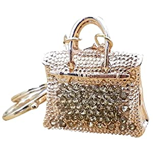 AM Landen Rhinestone Handbag Style Key-chains Handbag Charms Purse Charm Best Christmas Gift Key-chains