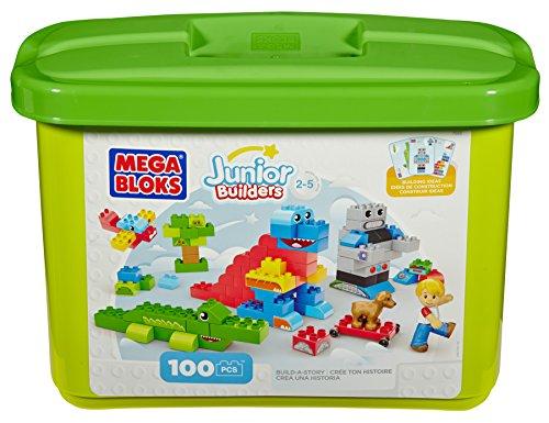 (Mega Bloks Building Blocks Build-a-Story 100 piece Tub)
