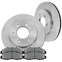 [ 4WD ] FRONT 329.5 mm Premium OE 6 Lug [2] Brake Disc Rotors + [4] Metallic Brake Pads