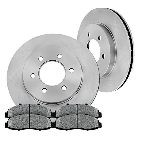 [ Pickup SUV Series ] FRONT 287 mm Premium OE 6 Lug [2] Brake Disc Rotors + [4] Metallic Brake (Dodge Dakota Pickup Brake)