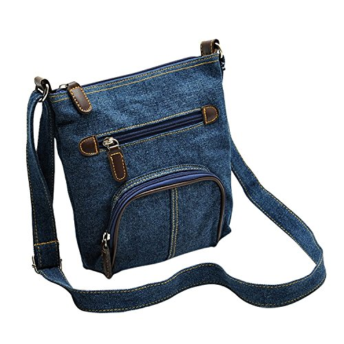 Fashion Story Women Denim Strap Crossbody Handbag Messenger Hobo Shoulder Tote Purse Satchel