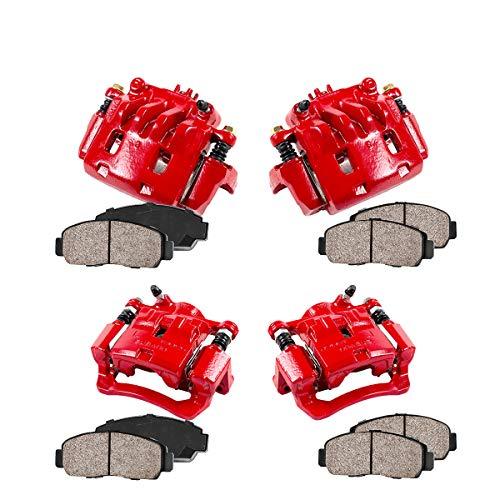 REAR Performance Grade Red Powder Coated Semi-Loaded Caliper Assembly Pair Set 2 CK00959