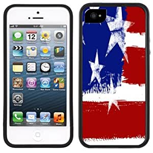 American Flag USA Handmade iPhone 5 5S Black Case