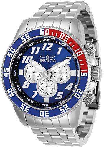 Invicta Men's 29854 Pro Diver Quartz Chronograph Blue, Silver Dial Watch