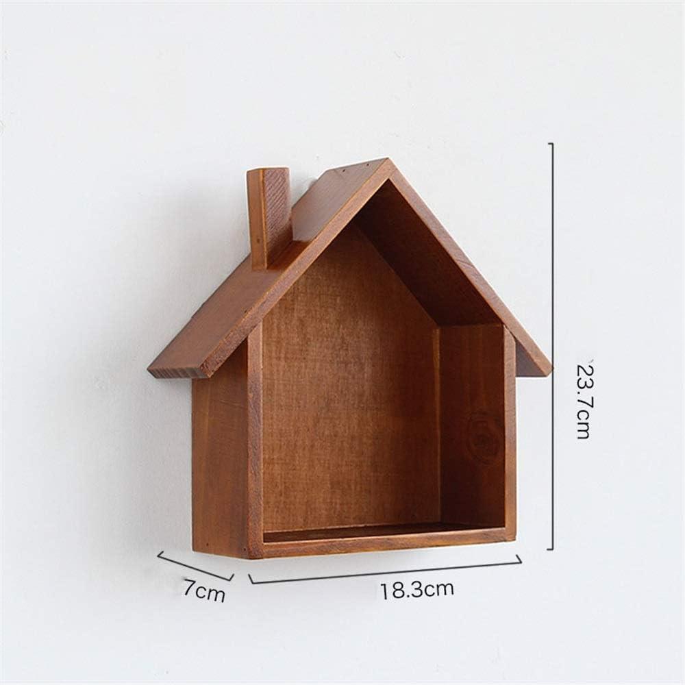 margueras 1pcs estante de pared de madera en forma de la peque/ña maison-/étag/ère pared casas de madera
