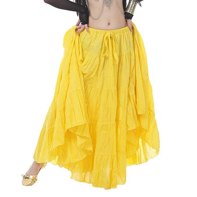Falda De Danza De Vientre para Mujer Elegante Falda Larga Color ...