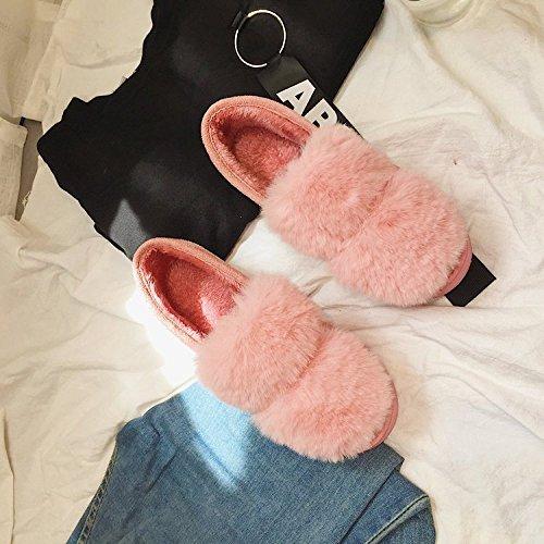 Imperméable dérapant Fond Maison Gros La L Lune Anti Sacs Main À Imperméables Nouveau Coton 2017 Épais Chaussures Souple Avec Pois En Chaud Pink Pqz0xROnwH