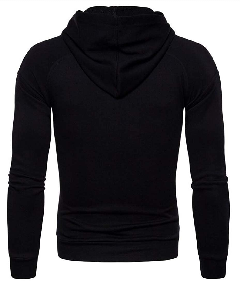 Unko Men Hoodies Pullover Casual Top Outwear Sweatshirts
