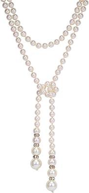 collier long femme perle