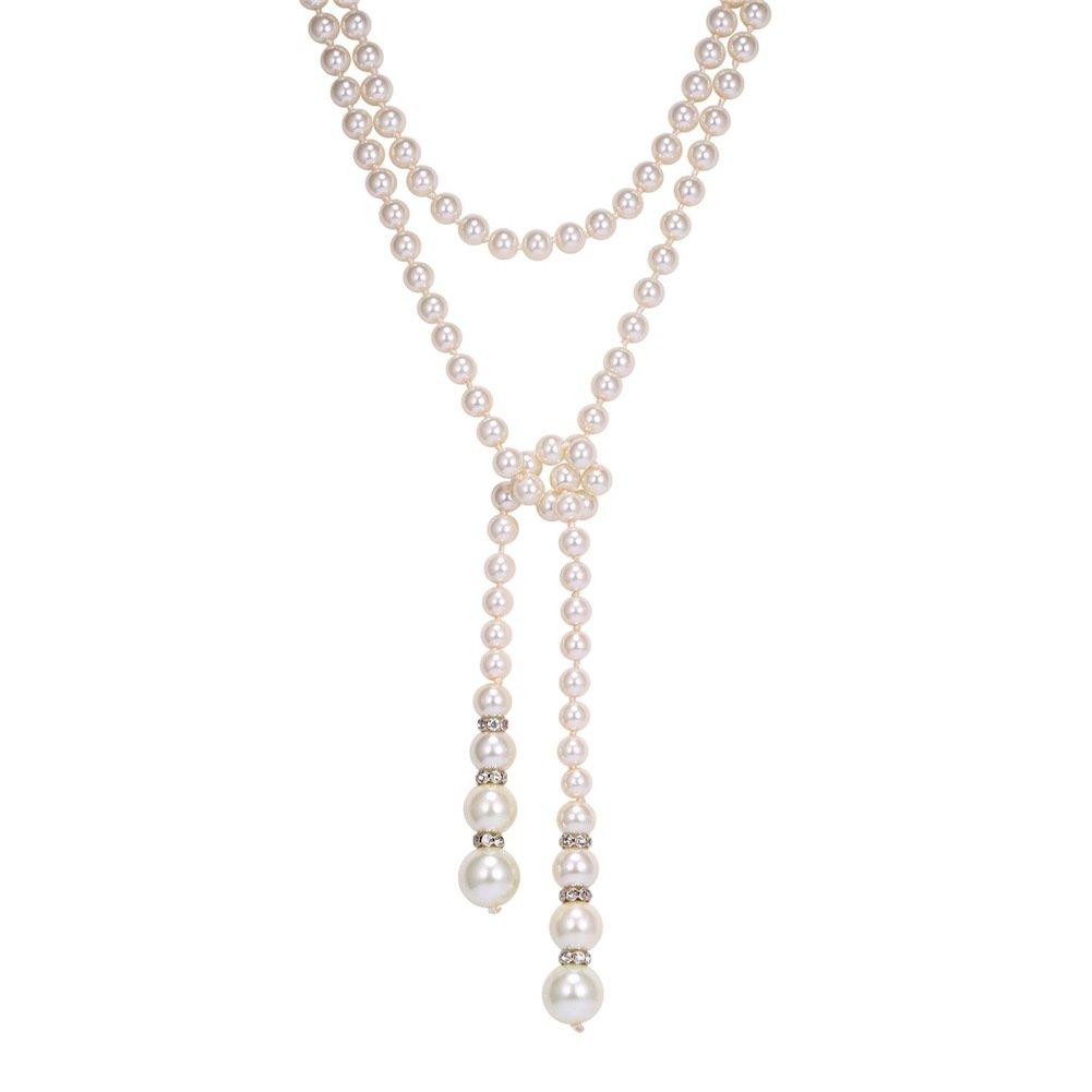 U7 Jewelry Austrian Rhinestones Synthetic Pearl Necklace Y Necklace U7 N2552-85