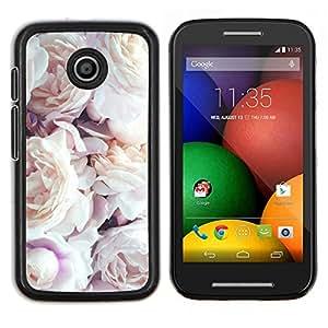 Ramo de Rosas Decoración Diseño- Metal de aluminio y de plástico duro Caja del teléfono - Negro - Motorola Moto E / XT1021 / XT1022