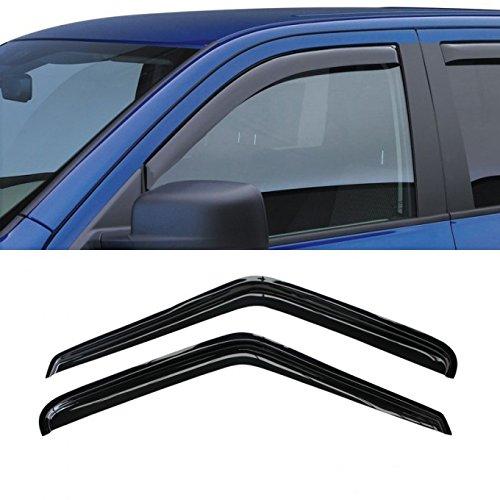 VioletLisa 2pcs Front 2-Door Smoke Sun/Rain Guard Vent Shade Window Visors For 95-05 Chevy S10 Blazer 95-01 GMC S15 Jimmy 2-Door SUV 94-04 S10 Pickup Sonoma Pickup 96-00 Isuzu Hombre (Front 2-Doors)