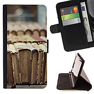King Case - FOR HTC One M7 - Imprint of history - Prima caja de la PU billetera de cuero con ranuras para tarjetas, efectivo Compartimiento desmontable y correa para la mu?eca