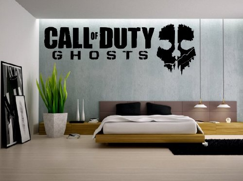 Call Of Duty Style Ghost Cod Wall Art Vinyl Sticker Boys Bedroom