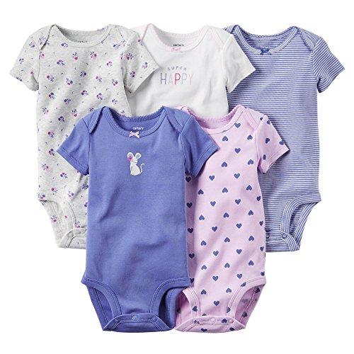 Carters V_126G131 Infant 5PK Bodysuit