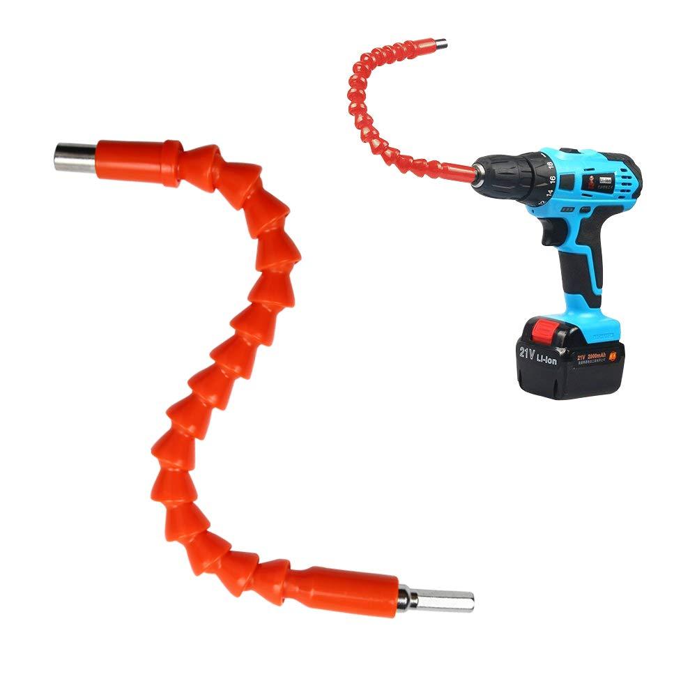 JelBo Flexible Shaft Drill Bit Extension,1/4 Inch Hex Flex Adapter Drive Quick Connect Extension Bits, 11.8'' Flexible Shafts Extension Screwdriver of Power Tool Accessories 11.8'' Flexible Shafts Extension Screwdriver of Power Tool Accessories