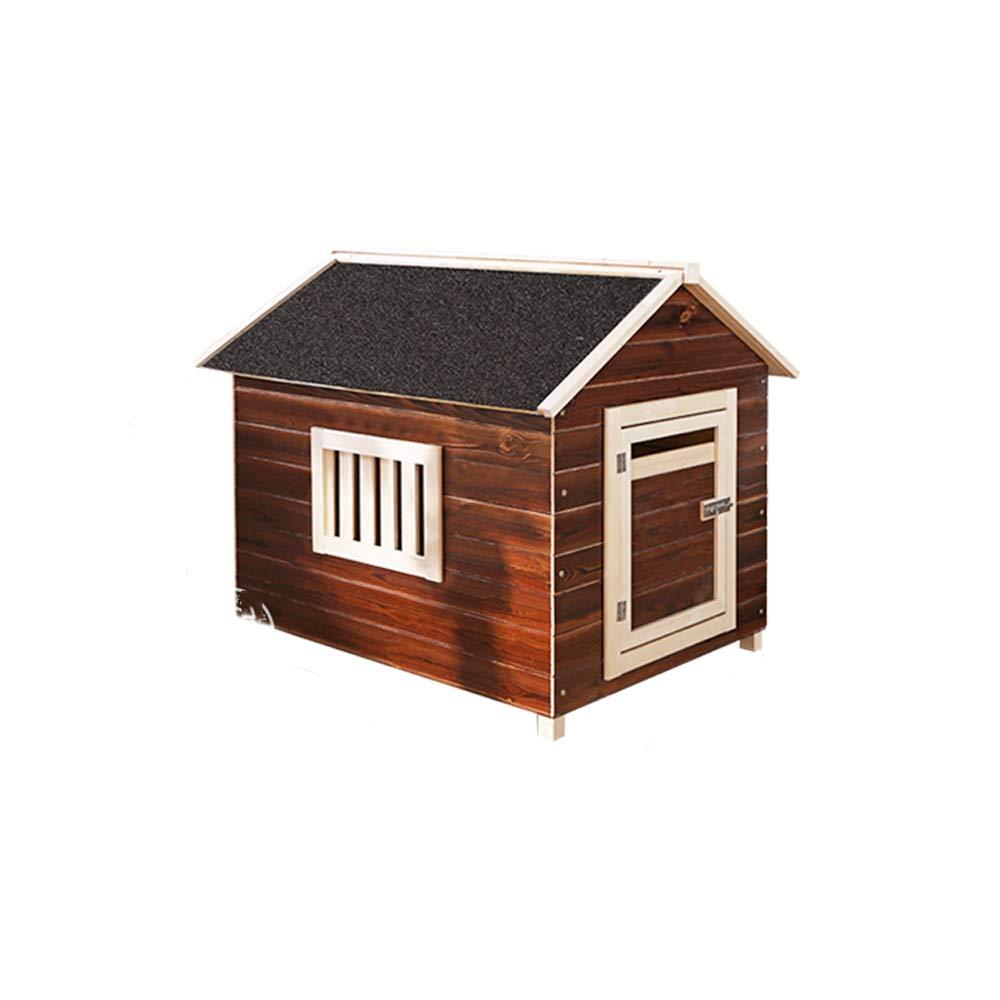 Casa de mascotas, Exterior Caliente de Madera Maciza de Interior, carbón, Arena para Gatos, Jaula para Perros, casa de Perros, Nido: Amazon.es: Hogar