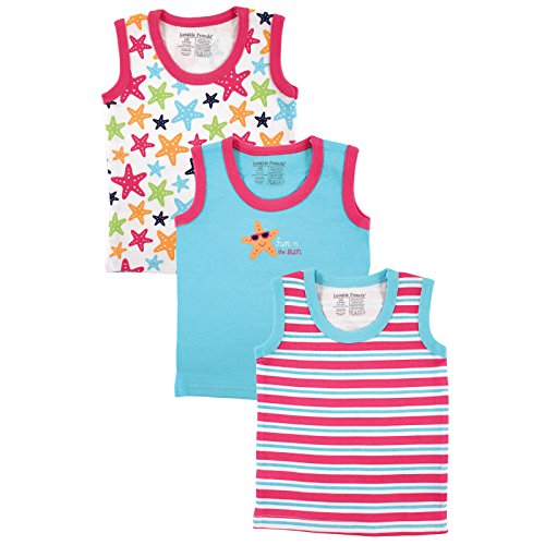 Infant Tank Top (Luvable Friends Sleeveless Tops 3 Pack, Starfish, 3-6 Months)