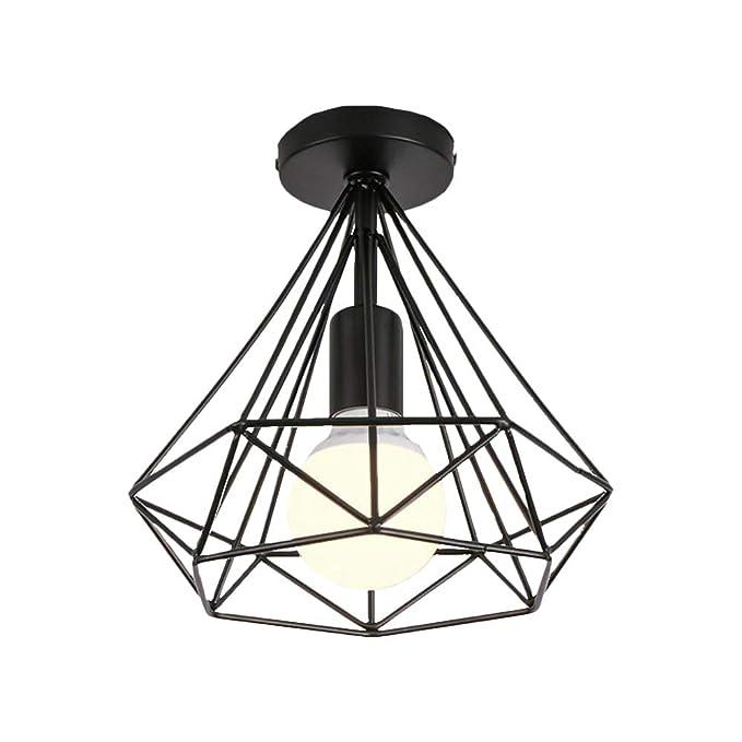 Lámpara de techo retro industrial, jaula de pájaros, forma de ...