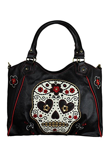 Cm Banned X Nero 39 Flower Sugar Borsa 32 Skull In wqO01