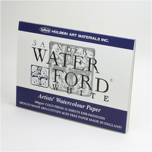 Holbein Waterford watercolor paper white block SM EHB-SM