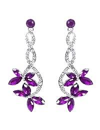 Ever Faith Butterfly Bridal Dangle Earrings Austrian Crystal