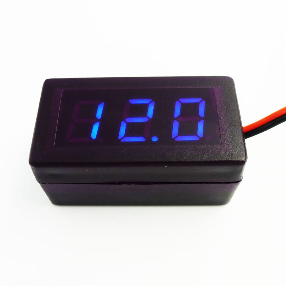 Geree 04 Mini Digital Voltmeter Dc 17 25v With 2 Wires Blue Wiring Motorcycle Display Voltage