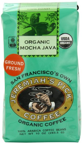 Jeremiah's Pick Coffee Organic Mocha Java Excuse sediment Coffee, 10-Ounce Bags (Pack of 3)