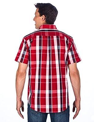 Noble Mount Mens 100% Cotton Casual Short Sleeve Shirt - Regular Fit