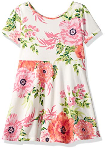 The Children's Place Big Girls' Short Sleeve Pleated Dress, Simplywht, L (10/12)