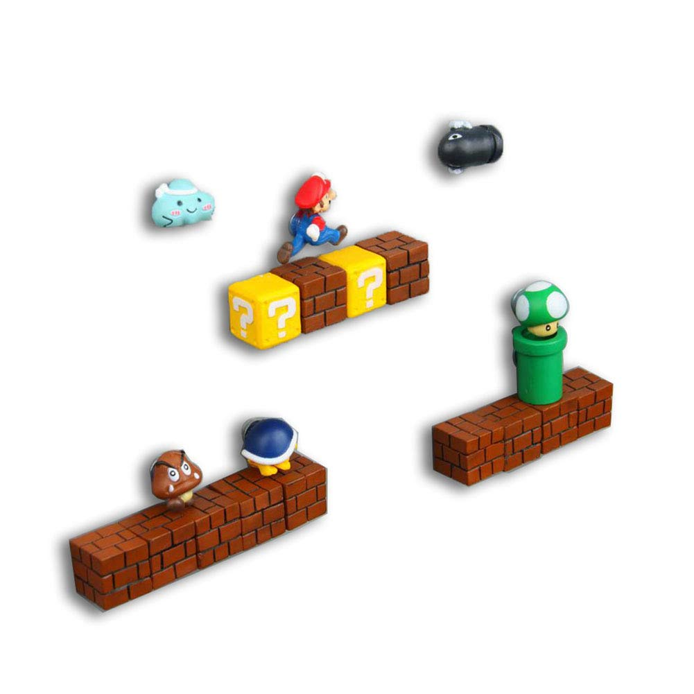 20 pcs 3D Mini Super Mario Resin Funny Fridge Magnets Kitchen School Office Home Decor Toys Christmas Gift for Kids