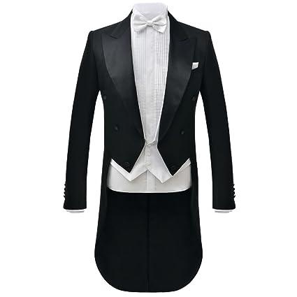 vidaXL Traje de Vestir Corbatín Blanco Hombre 2 Piezas Color Negro Talla 46-56: Amazon.es: Ropa y accesorios