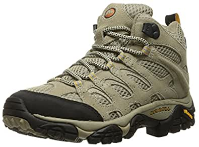 Merrell Women's  Taupe  Moab Vent Mid Wide Hiking Boot - 5 C/D US