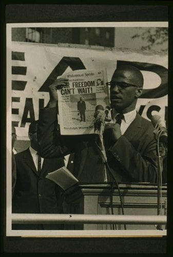 Photo: Malcolm X, Our Freedom Can't Wait, Black Muslim Rally, New York City, NYC, 1963 . Size: 8x10 by Infinite Photographs