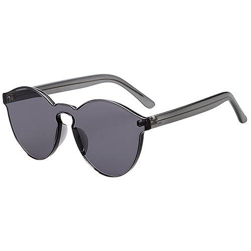 Highdas Occhiali da sole donne degli uomini di gatto paraocchi in gomma integrato Eyewear di colore della caramella UV400