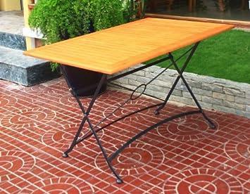 Klapptisch Kaffeehaustisch Gartentisch Stahl Eukalyptus Fsc Holz