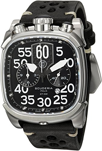 CT-Scuderia-Mens-Scrambler-Swiss-Quartz-Stainless-Steel-and-Leather-Casual-Watch-ColorBlack-Model-CS70120