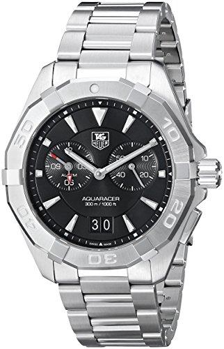 TAG Heuer Men's WAY111Z.BA0910 300 Aquaracer Silver-Tone Stainless Steel - Date Tag Bracelet Heuer